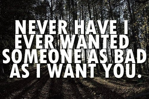 Never have I Ever Wanted | Quote