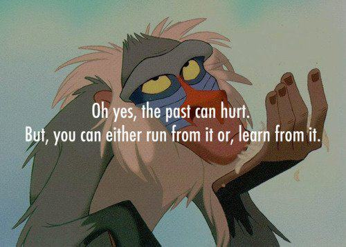 Love Quote : Oh yes, the past can hurt.