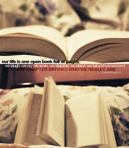 our life is one open book full of pages. | Life Hack Quote