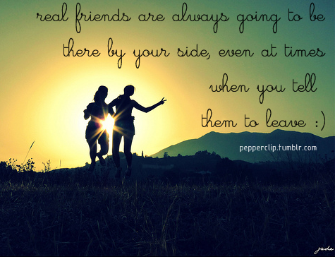 Best Friendship Quote : Real Friends Are Always By Your Side