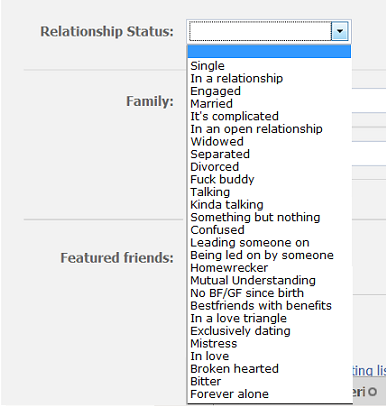 Relationship status : Fact Quote