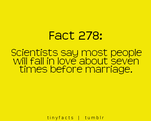 Scientist say most people with fall in Love : Fact Quote