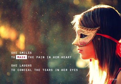 She smile - To mask the pain in her heart - Bad Feeling