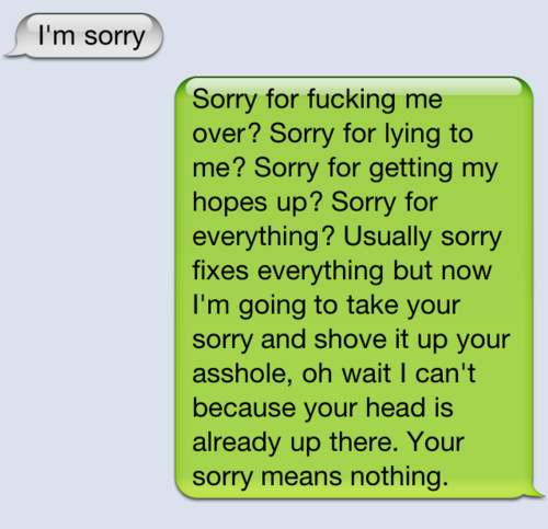 I'm sorry : Love Quote