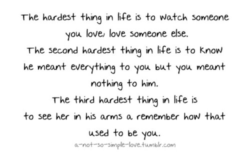 The hardest thing in life - Life Hack Quote