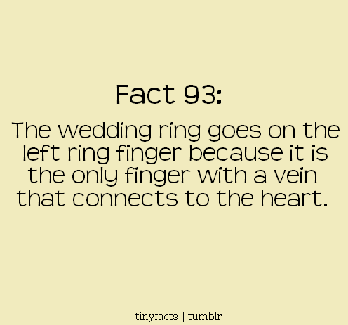 Ring finger | Fact Quote