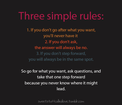 Three simple rules : Motivational Quote