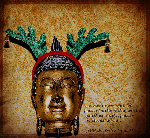 We can never obtain peace in the outer | Buddhist Quote
