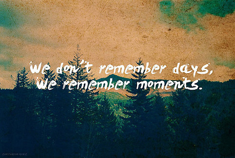 We don't remember days - Miss you Quote