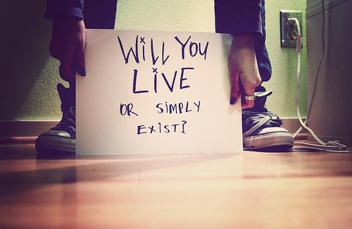 Life Hack Quote ~ will you live or simply exist ?