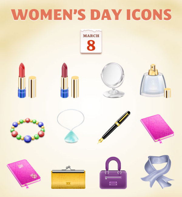 Womens Day Icons : Graphics99.com