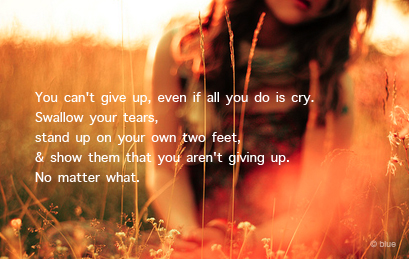 You can't give up | Motivational Quote