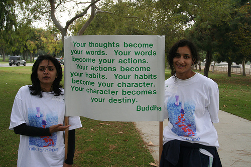 your thoughts become your words. : Buddhist Quote