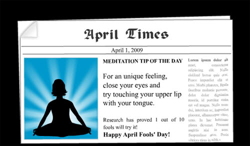 April Time: Happy April Fools Day