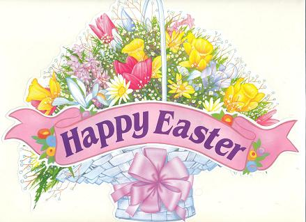 Happy Easter Card for Facebook Sharing