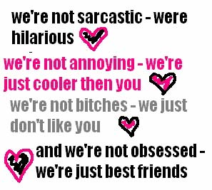 We're not sarcastic were just hilarious