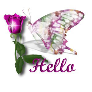 Hello Butterfly Graphic for Fb Share