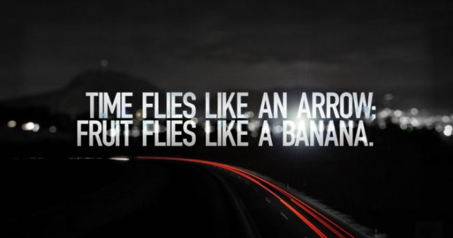Time Flies Like an Arrow Fruit Flies Like a Banana.