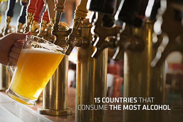 15 Countries that Consume the Most Alcohol