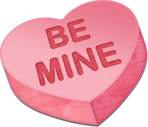 Be Mine Heart Graphic for Fb Share
