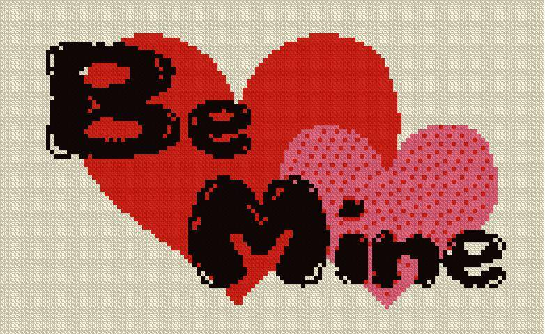 Be Mine Red Heart Graphic for Fb share