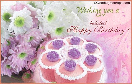 Wishing you a Belated Happy Birthday !
