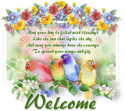Welcome Blessings Bird Scrap for Orkut