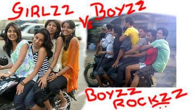 Girls vs Boys Boys Rocks