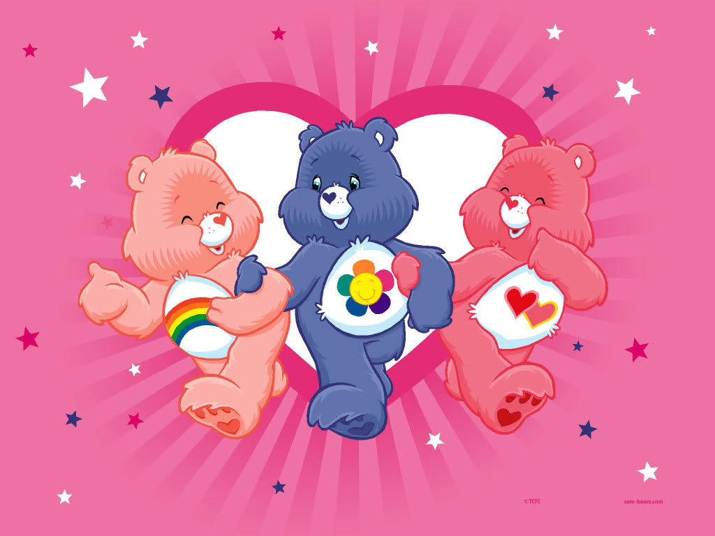 Three Care bears Image for Fb Share