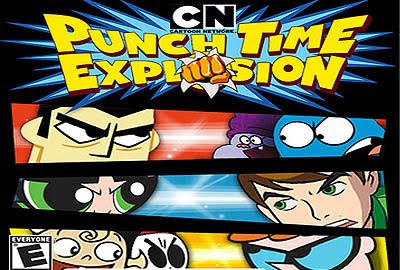 Punch Time Explosion Cartoon Graphic for Fb Share