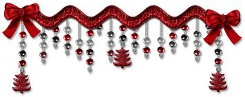 Beautiful Red Christmas Dividers for Friendster
