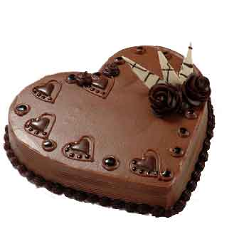 Chocolate Heart Cake Picture for Fb Share