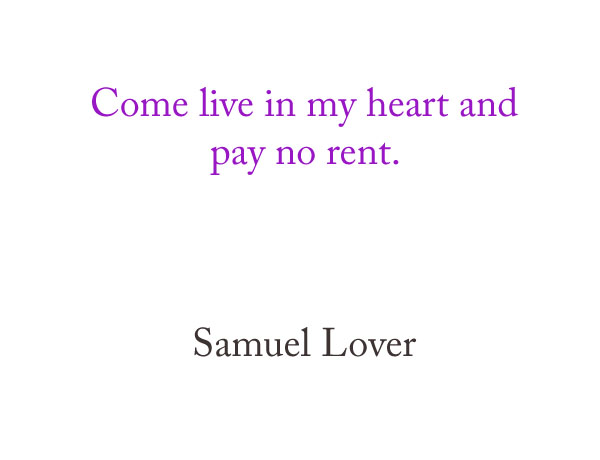 Come Live in My Heart and Pay No Rent