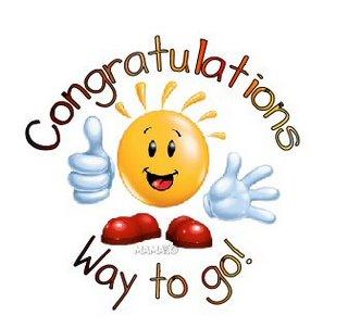 Congratulations way to Go !