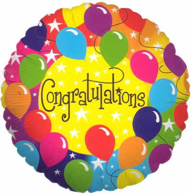 Congratulations Balloons Graphic