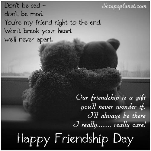 Dont be Sad,Dont be Mad,Happy Friendship Day