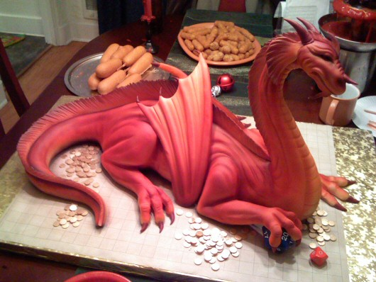 Dragon Cake Picture for Orkut