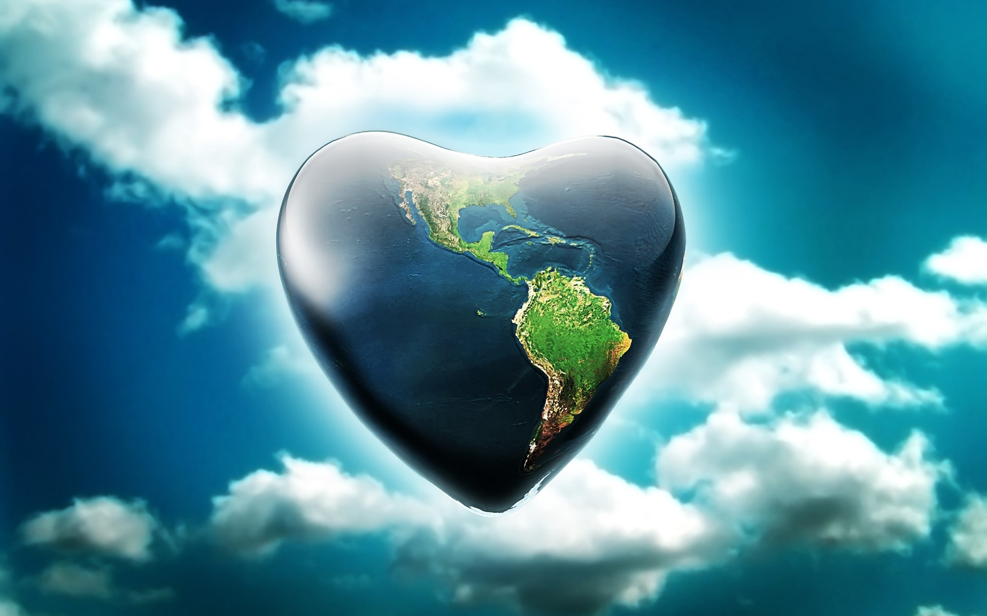 Earth Day Heart Graphic for Facebook share