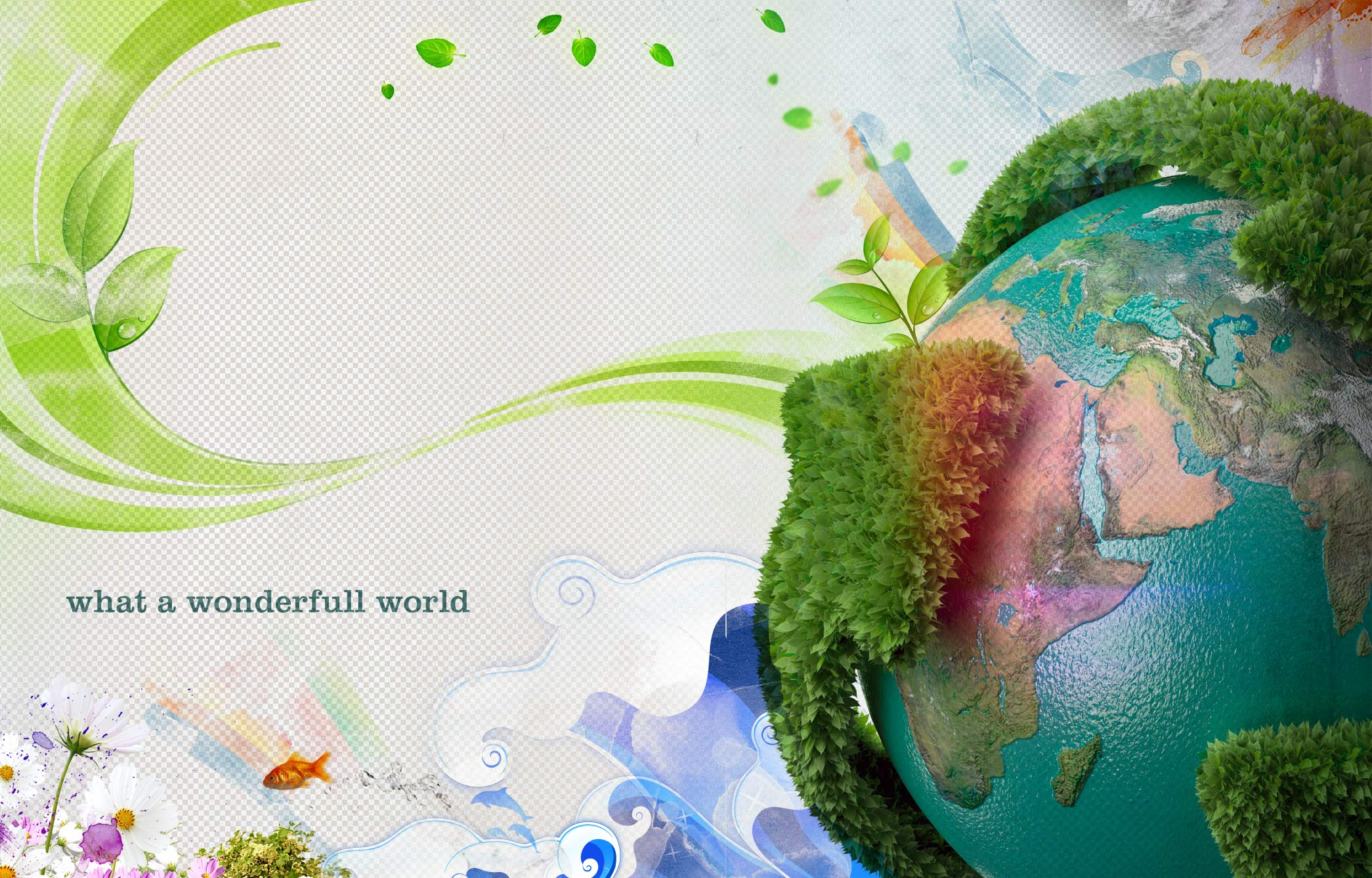 What a Wonderfull World Happy Earth Day
