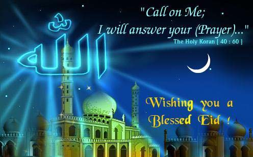 Wishing you a Blessed Eid !