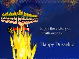 Enjoy the Victory of Truth over Evil Happy Dussehra