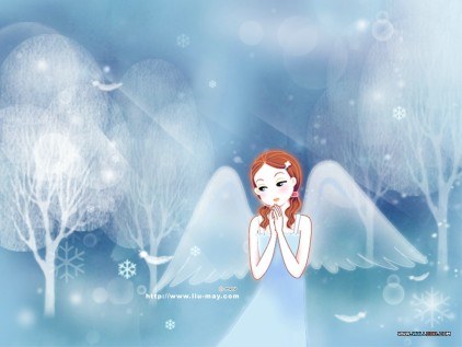 Fancy cartoon angel wallpapers