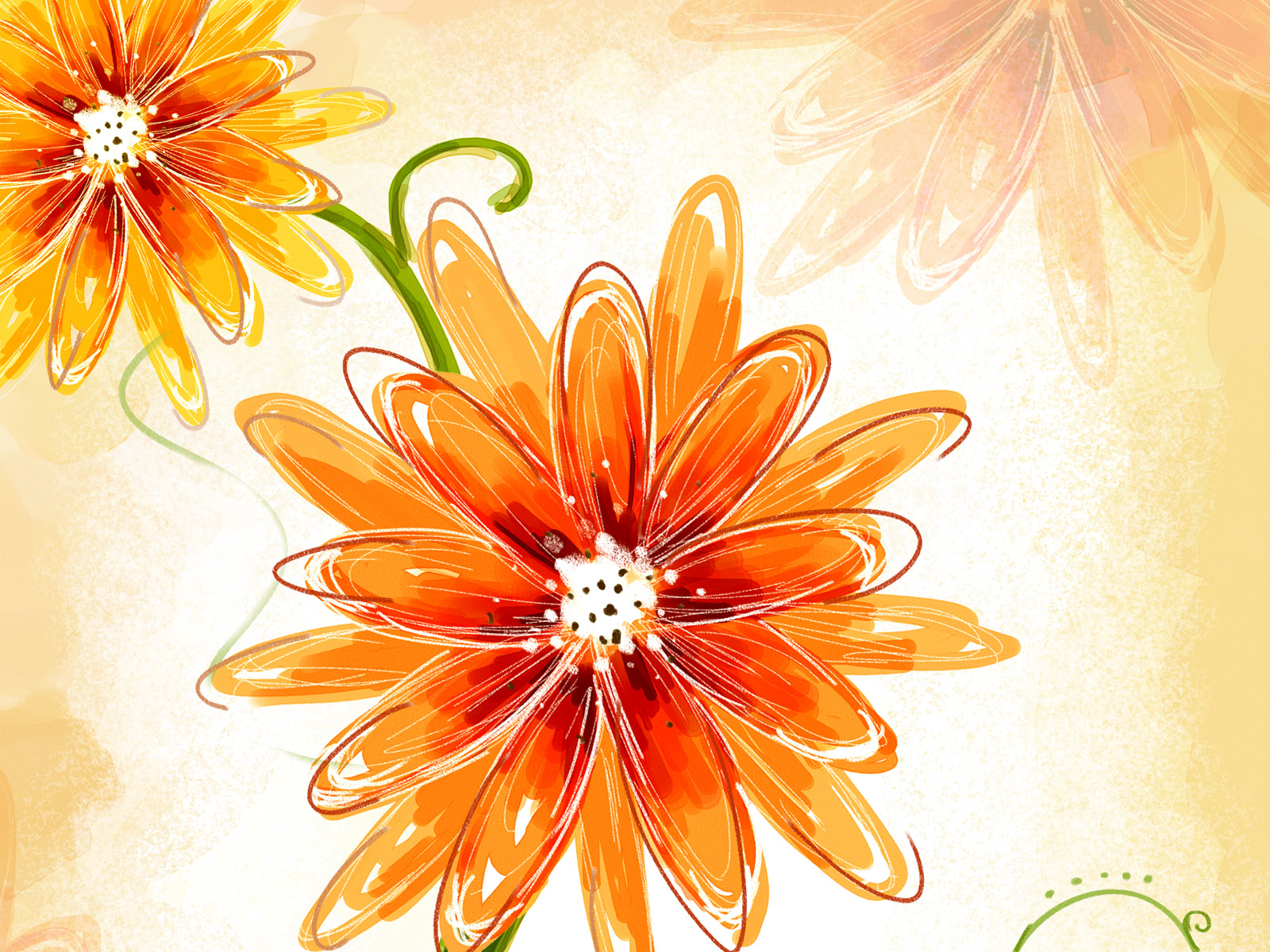 Orange Colour Flower Picture for Hi5