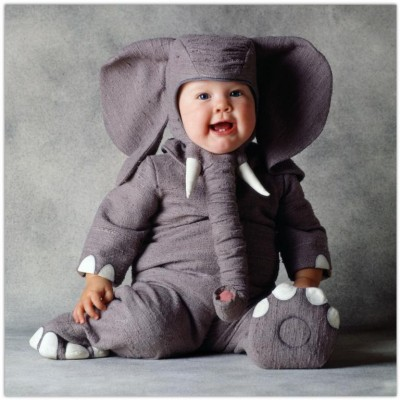 Funny Baby in Elephant Costume