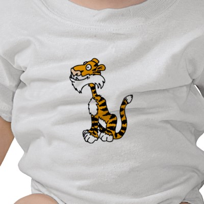 Funny Tiger on Tshirt Picture