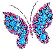 Gems Butterfly Picture for Orkut