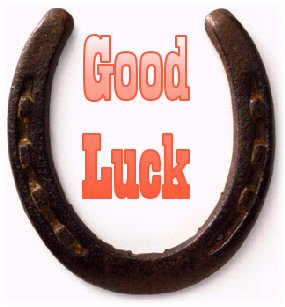 Good Luck Horse Shoe Picture for Facebook Sharing