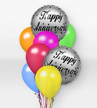 Happy Anniversary with balloons Greetings
