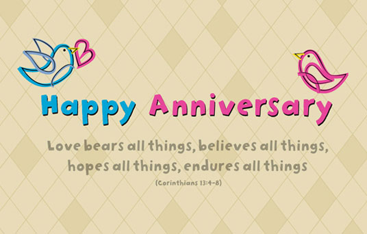 Happy Anniversary Love Bears all Things Believe all Things