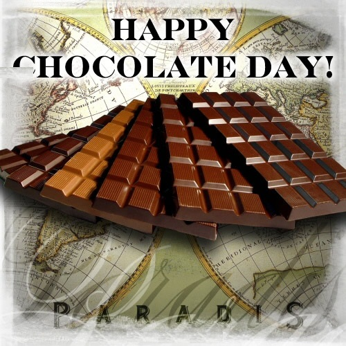 Happy Chocolate Day ! Graphic for Fb Share
